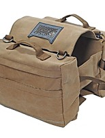 cheap -Saddle bags Backpack Rucksack Dog Packs Hiking Beach Camping Travel Wearable Oxford Khaki