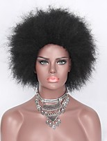 cheap -Synthetic Wig Curly Layered Haircut African American Wig Black Women's Capless Natural Wigs Short Synthetic Hair Daily Wear
