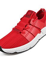 baratos -Homens sapatos Micofibra Sintética PU Primavera / Outono Conforto Tênis Preto / Vermelho
