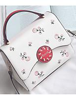 cheap -Women's Bags PU Shoulder Bag Pattern / Print for Casual Winter White Black