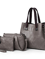 cheap -Women's Bags PU Leather Bag Set 3 Pcs Purse Set Zipper for Office & Career Blushing Pink / Gray / Brown