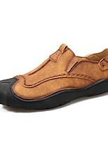 abordables -Homme Chaussures Cuir Eté Automne Chaussures de plongée Mocassins et Chaussons+D6148 pour Décontracté De plein air Noir Brun claire Kaki