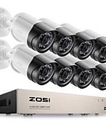 cheap -ZOSI® 8CH Email Alert Surveillance Kits 1080P HD-TVI DVR 8PCS 2.0MP IR Night Vision Security Camera Video CCTV System