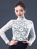 cheap -Latin Dance Tops Women's Performance Lace Lace Bandage Long Sleeves Top