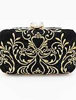 cheap -Women's Bags Polyester Evening Bag Crystal Detailing Embroidery for Wedding Event/Party All Seasons Black
