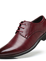 cheap -Men's Shoes Synthetic Microfiber PU Spring Fall Formal Shoes Oxfords Side-Draped for Wedding Office & Career Black Yellow Brown Red Blue