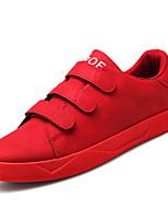 Недорогие -Муж. обувь Свиная кожа / Полиуретан Весна / Осень Удобная обувь Кеды Черный / Серый / Красный