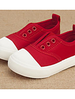 cheap -Girls' Boys' Shoes Canvas Spring Fall First Walkers Comfort Sneakers for Casual Black Gray Red