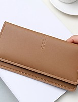 cheap -Women's Bags PU Leather / Polyurethane Leather Wallet Buttons for Outdoor Black / Brown / Wine