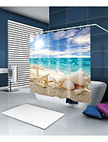cheap -Shower Curtains & Hooks Contemporary Casual Polyester Contemporary Novelty Machine Made Waterproof Bathroom
