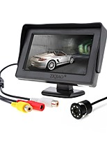 cheap -ZIQIAO 4.3 inch TFT-LCD CCD Wired 170 Degree Car Rear View Kit Waterproof for Car