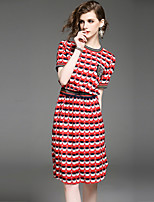 cheap -Women's Street chic A Line Dress Print