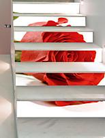 Недорогие -Декоративные наклейки на стены Напольные наклейки - 3D наклейки 3D Цветочные мотивы / ботанический Гостиная Спальня Ванная комната Кухня