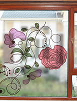 cheap -Window Film & Stickers Decoration Contemporary Floral PVC Window Sticker Matte