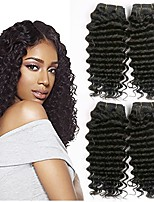 cheap -Eurasian Hair Wavy Human Hair Weaves 50g x 4 Hot Sale Extention Human Hair Extensions All Christmas Gifts Christmas Wedding Party Special