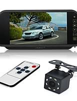 abordables -ZIQIAO 7inch LCD CCD Câblé 170 Degrés Moniteur d'inversion de voiture Imperméable Affichage multifonctionnel Ecran LCD pour Automatique