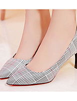 cheap -Women's Shoes PU(Polyurethane) Spring / Fall Comfort / Basic Pump Heels Stiletto Heel White / Silver