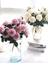 abordables -Fleurs artificielles 1 Une succursale style pastoral / Fleurs de mariage Roses Fleur de Table