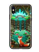 cheap -Case For Apple iPhone X iPhone 8 Pattern Back Cover Scenery Animal Hard Tempered Glass for iPhone X iPhone 8 Plus iPhone 8 iPhone 7