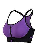 abordables -Femme Soutien Important Soutien-Gorges de Sport Respirabilité Soutien-Gorges de Sport pour Exercice & Fitness Nylon Violet / Rouge de