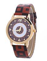 preiswerte -Xu™ Damen Quartz Armbanduhr Chinesisch Armbanduhren für den Alltag PU Band Kreativ Freizeit Schwarz Blau Rot Braun Grün Beige Rose