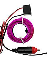 abordables -HKV 5 m Cuerdas de Luces 1 LED Blanco Morado Verde Amarillo Azul Rojo Impermeable 12V 1pc