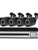 Недорогие -4 ch система безопасности с 4ch 1080n ahd dvr 4 шт 1.3mp атмосферостойкие камеры с ночным видением