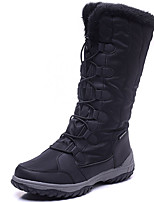 cheap -Women's Shoes Canvas Fall Winter Snow Boots Boots Skiing Shoes Flat Heel Knee High Boots for Athletic Outdoor Black