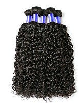 abordables -Cheveux Indiens / Très Frisé Bouclé Cheveux Vierges Tissages de cheveux humains / Soin des Cheveux / Extensions Naturelles Tissages de