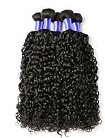 preiswerte -Indisches Haar / Kinky-Curly Locken Unbehandeltes Haar Menschenhaar spinnt / Haarpflege / Echthaar Haarverlängerungen Menschliches Haar
