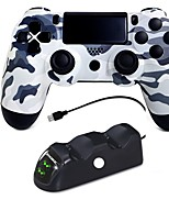 preiswerte -Kabellos Ladegeräte Kits Gamecontroller Für PS4, Bluetooth Niedrige Vibration Touchpad Vibration Ladegeräte Kits Gamecontroller ABS 1pcs