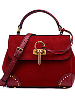 cheap -Women's Bags Cowhide Shoulder Bag Bow(s) for Casual Fall Winter Wine