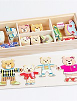 cheap -Wooden Puzzle Fairytale Theme Bear Animals Parent-Child Interaction Lovely Wooden / Bamboo 1pcs Kid's Teen All Gift