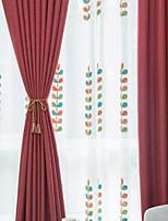 economico -Blackout tende tende Camera da letto Tinta unita Cotone / poliestere Stampa pigmentata