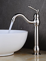 cheap -Bathroom Sink Faucet - Clawfoot Nickel Brushed Centerset Single Handle One Hole