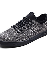 cheap -Men's Shoes Fabric Spring / Fall Comfort Sneakers Black / Beige / Gray