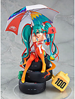 cheap -Anime Action Figures Inspired by Vocaloid Snow Miku 2018 PVC CM Model Toys Doll Toy Men's Women's