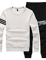 cheap -Men's Basic Sweatshirt Activewear Set - Solid Colored