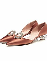 preiswerte -Damen Schuhe Seide Frühling / Herbst Komfort High Heels Heterotypische Ferse Gold / Schwarz