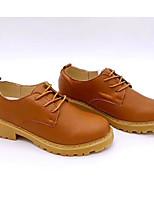 abordables -Femme Chaussures Polyuréthane Printemps Automne Confort Oxfords Talon Bottier pour Orange