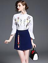 abordables -Mujer Camisa - Floral Falda
