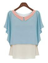 cheap -Women's Basic Blouse-Color Block