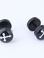 cheap -Men's / Women's Cross Stud Earrings - Vintage / Fashion / European Black Earrings For Causal / Daily