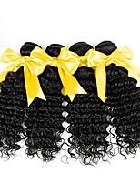 economico -Malese Molto ondulata Ondulato Tessiture capelli umani 50g x 4 Soffice 100% Vergine Alta qualità vendita calda Facile da indossare Abiti