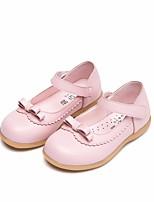 preiswerte -Mädchen Schuhe Leder Frühling Herbst Schuhe für das Blumenmädchen Komfort Flache Schuhe für Normal Weiß Schwarz Rosa