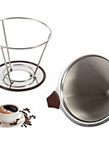 cheap -1pc Stainless Coffee and Tea Coffee Filter Tea Strainer with Cup Stand Creative Kitchen Gadget High Quality New ,  12*10cm
