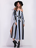cheap -SHE IN SUN Women's Basic A Line Dress - Striped
