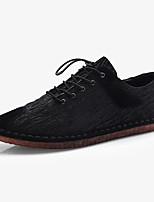 Недорогие -Муж. обувь Ткань Весна / Осень Удобная обувь Кеды Черный / Серый