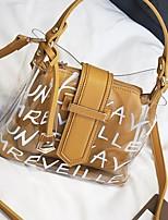 preiswerte -Damen Taschen PU Bag Set Knöpfe für Normal Schwarz / Rosa / Gelb