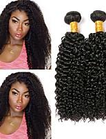 cheap -Peruvian Hair Curly Human Hair Extensions Human Hair Weaves Extention Natural Black All